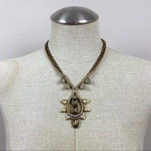 Stella & Dot Double Chain Pendant Necklace
